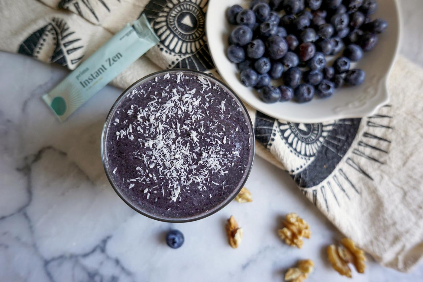 Blueberry Pie Protein Smoothie