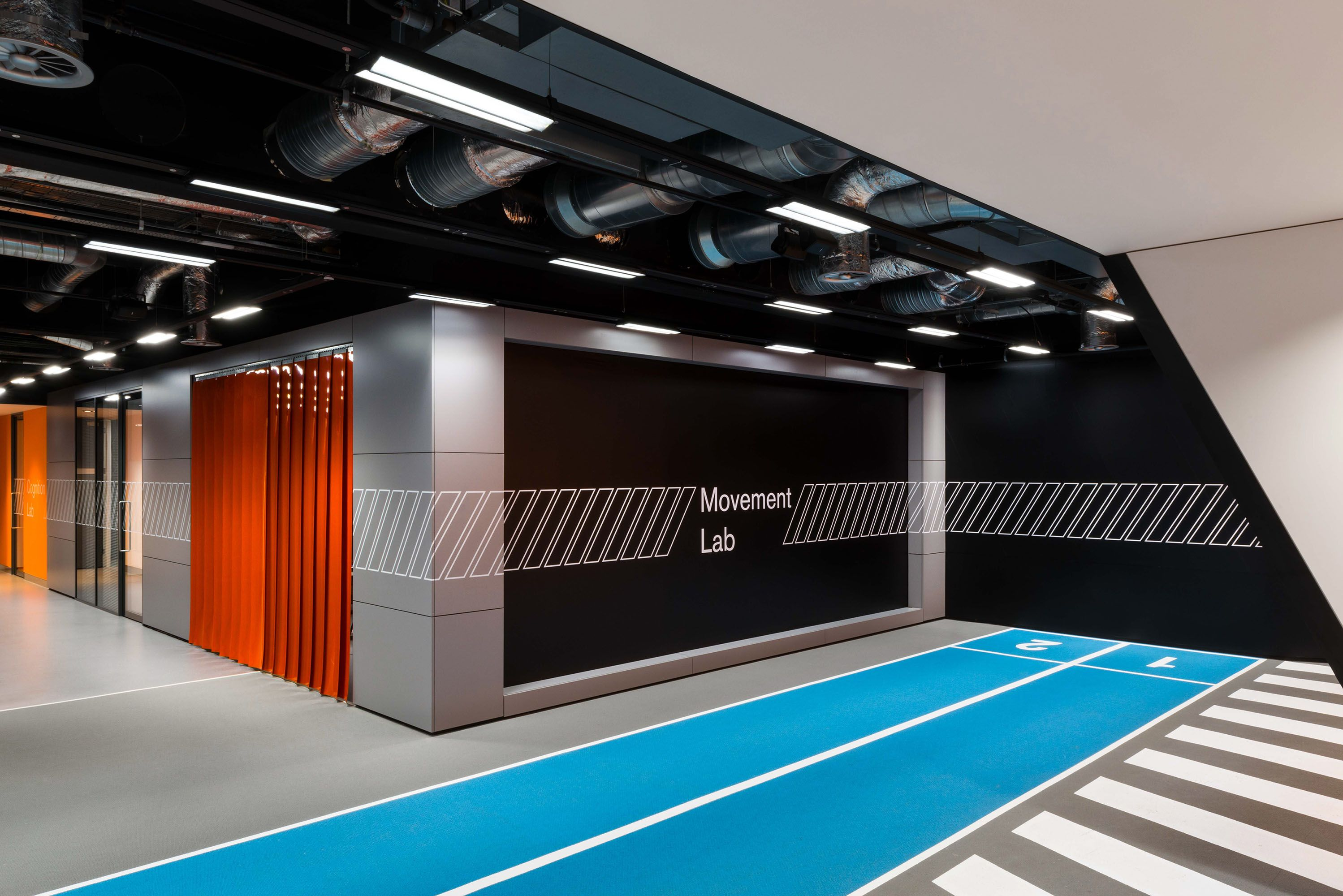Interior shot of the GSK Movement lab