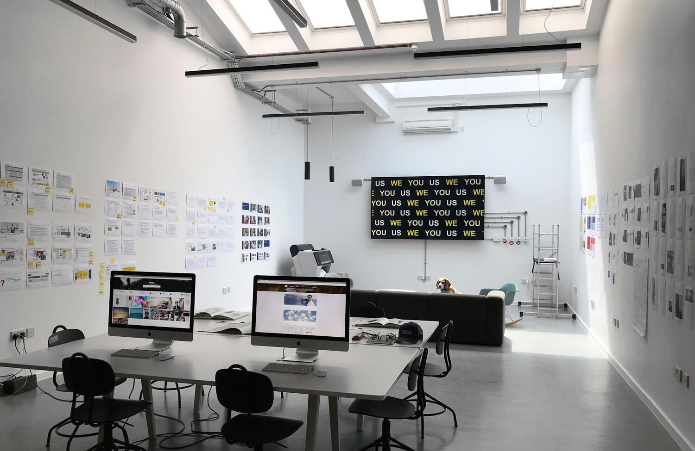 Interior view of the Pope Wainwright studios