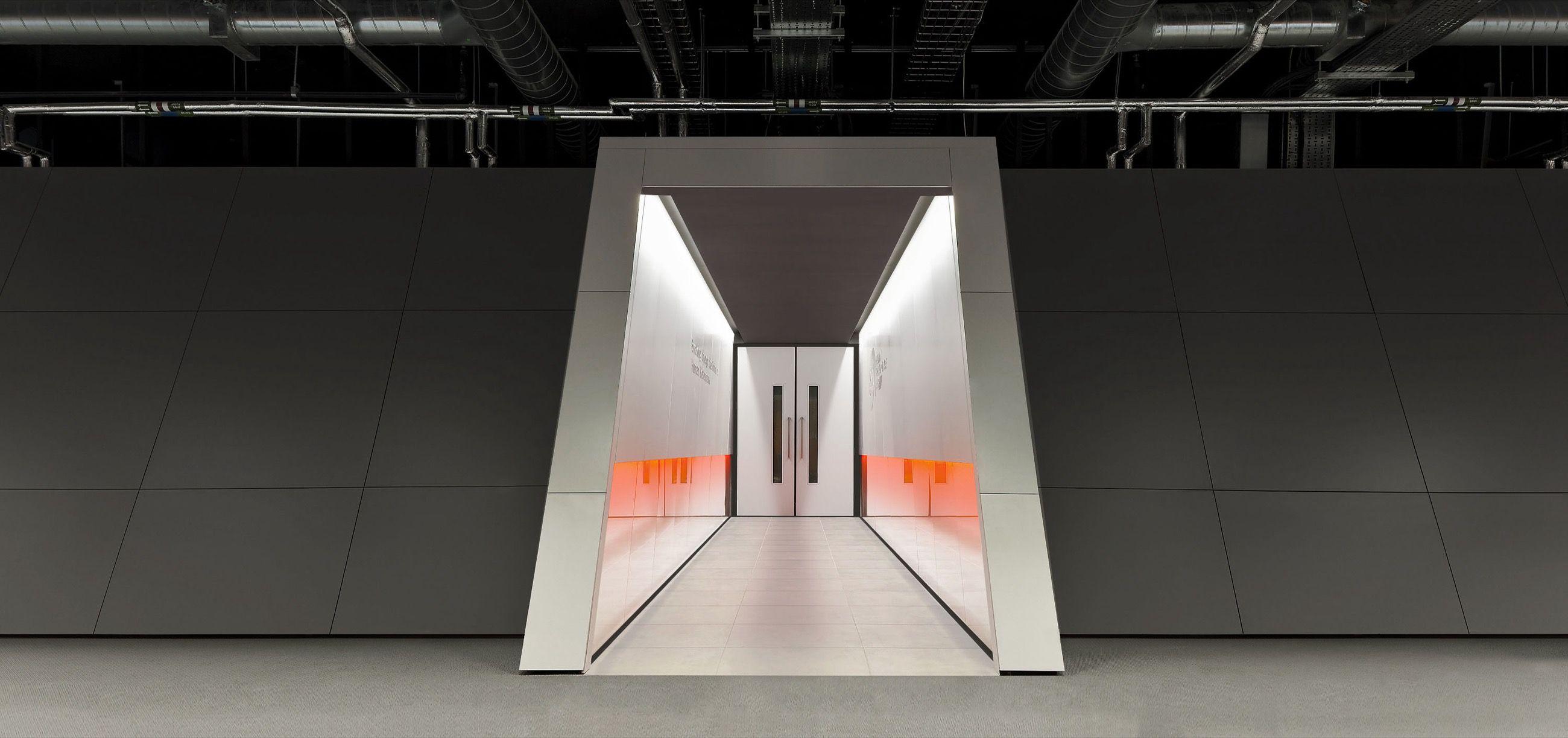 A corridor inside the GSK lab