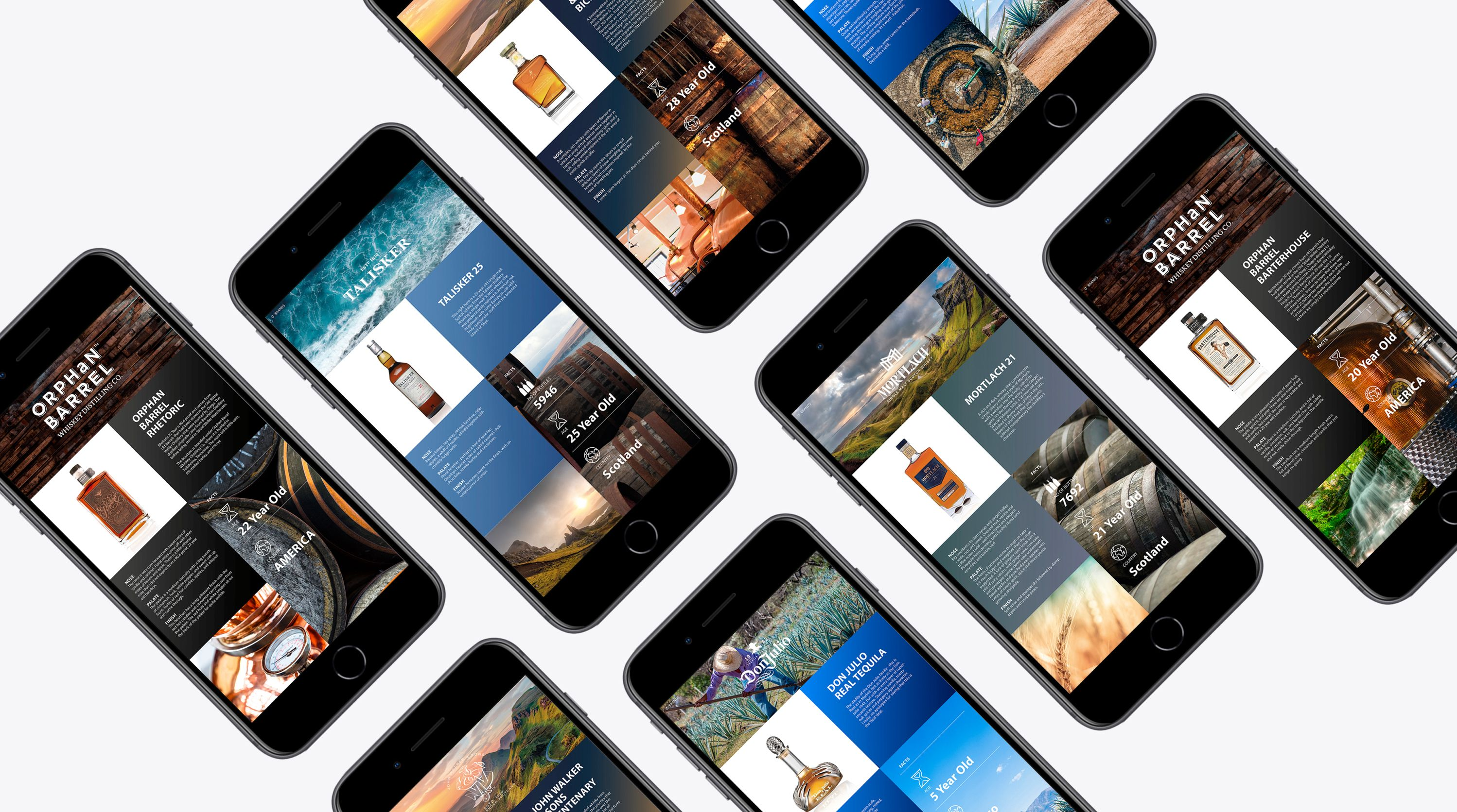 DCC apps shown on multiple phones