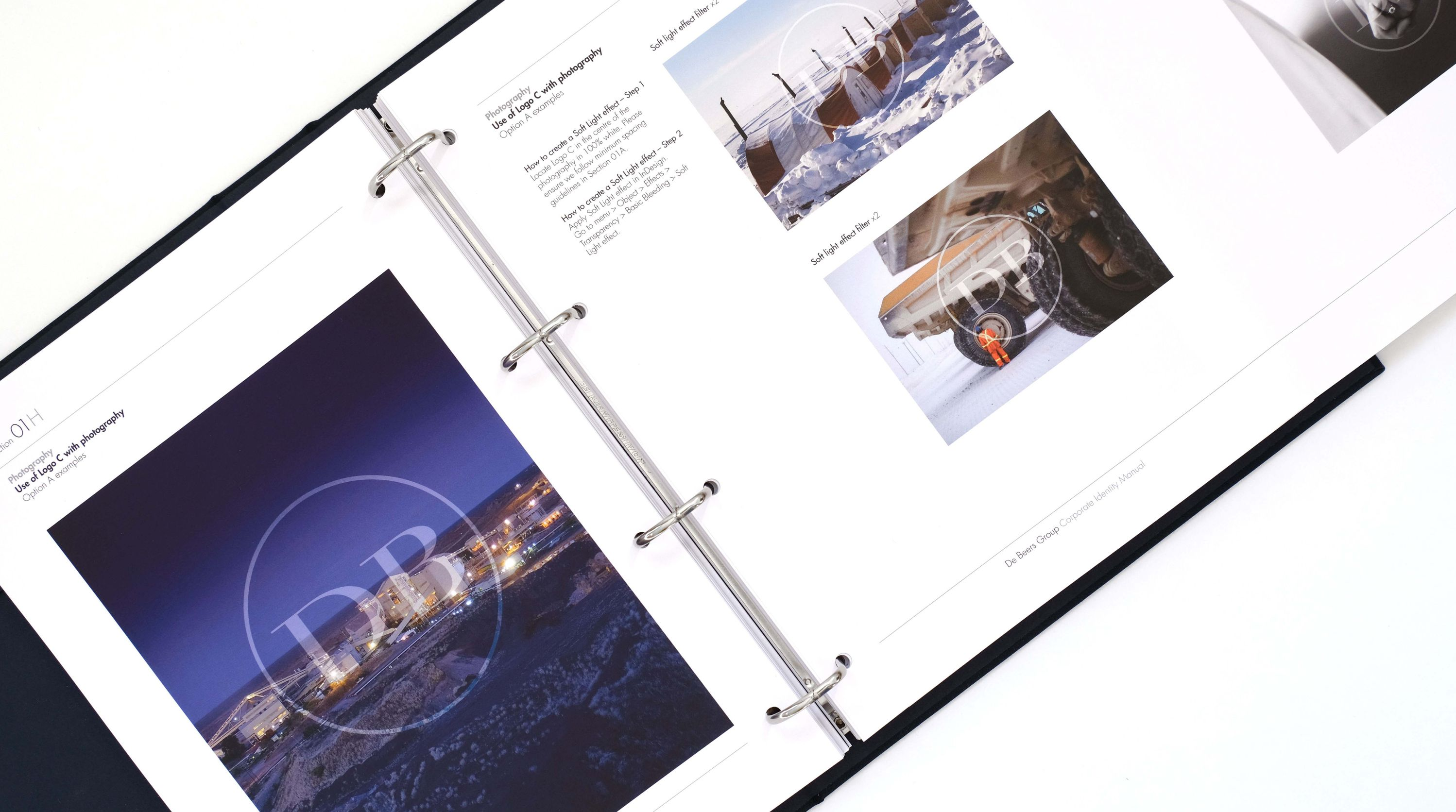 Looking inside the De Beers Group Corporate Identity Manual