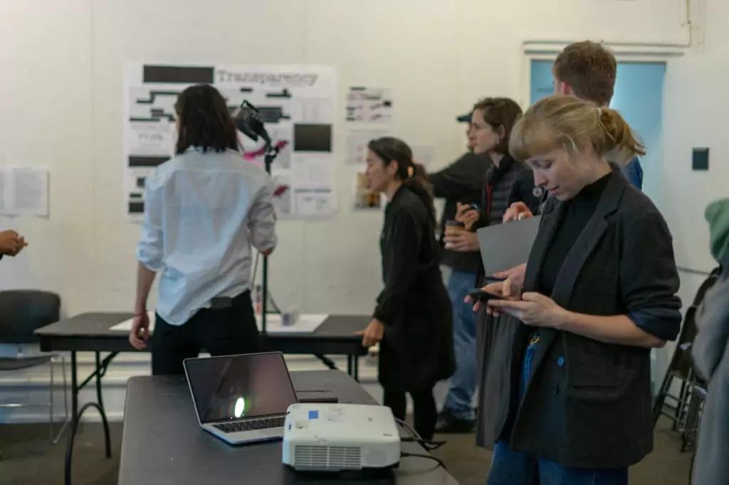End of the year exhibition for Urban Datascapes taught by Prof. Leah Meisterlin