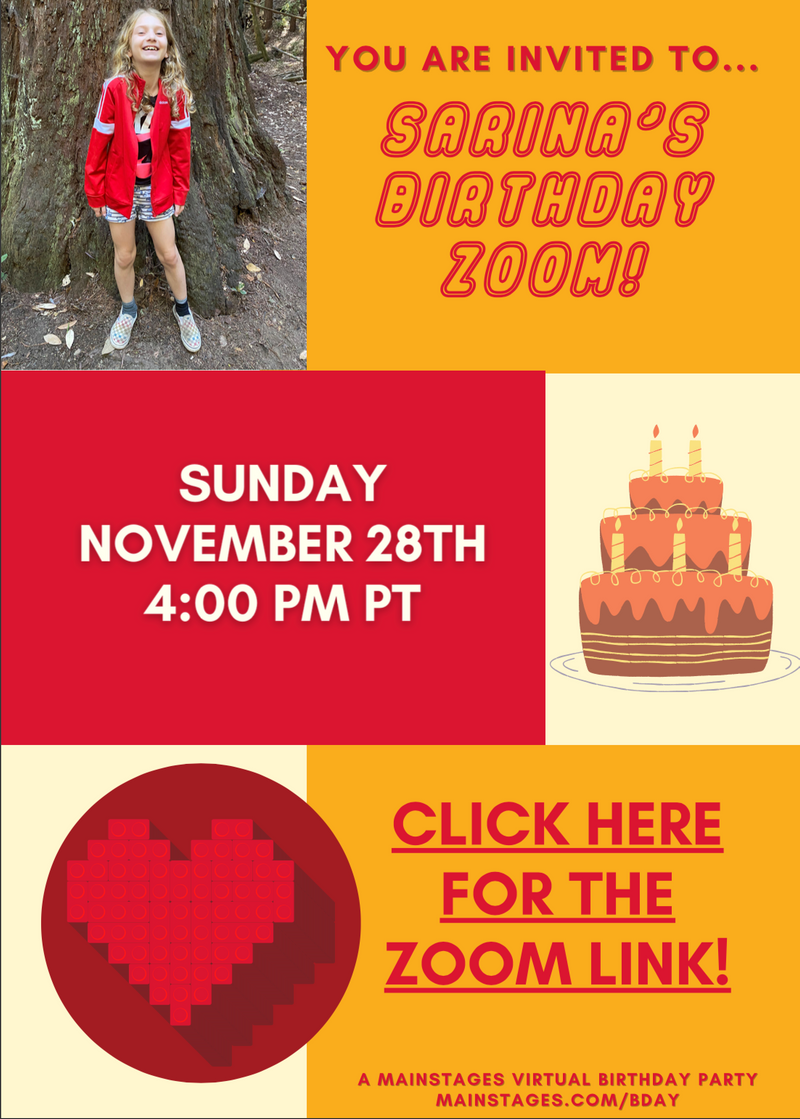 birthday party on zoom invitation