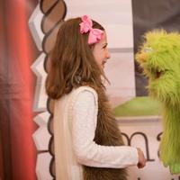 green puppet