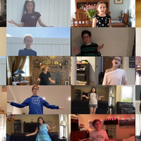 kids dancing on zoom