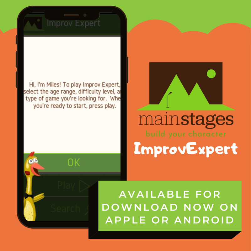 graphic that shows a picture of a smartphone open to an app called ImprovExpert the text says 'available for download now on apple of android'