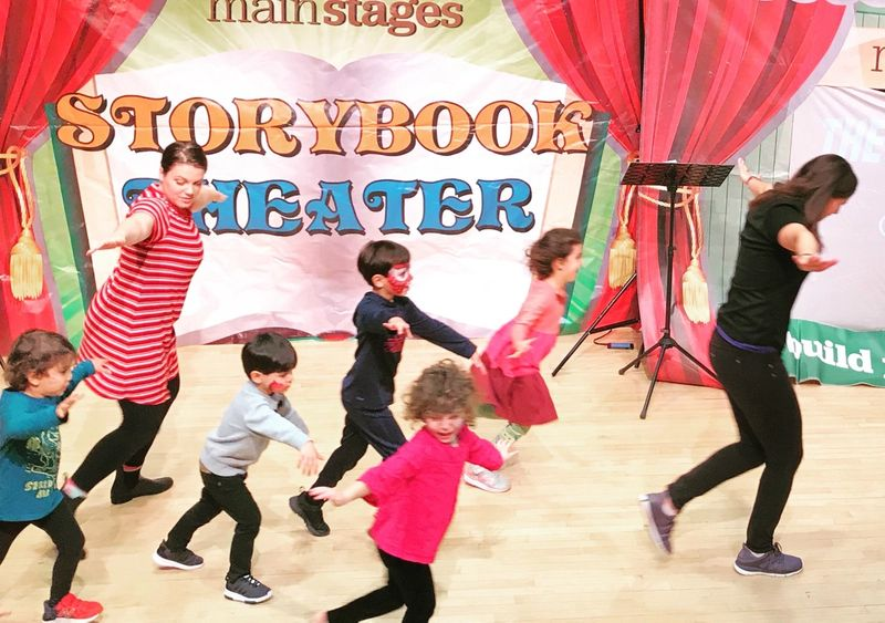 children participating in mainstages' Storybook Theater