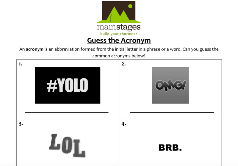 guess the acronym