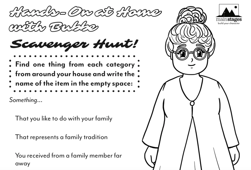 coloring page for kids of a grandmother