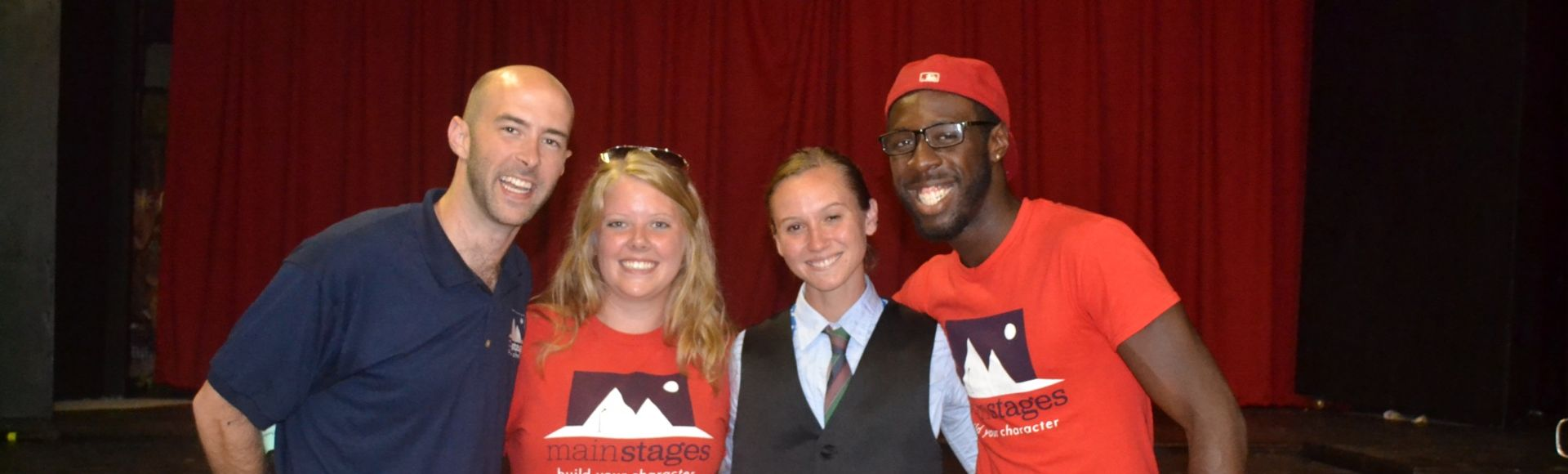 camp staff posing with mainstages staff