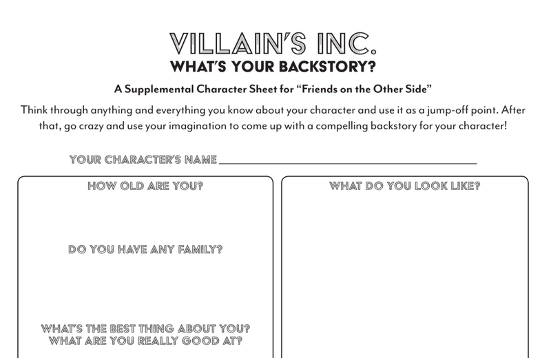 villains inc. what's your backstory