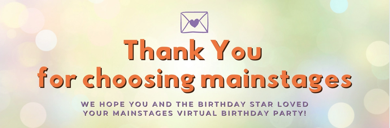 thank you for choosing mainstages