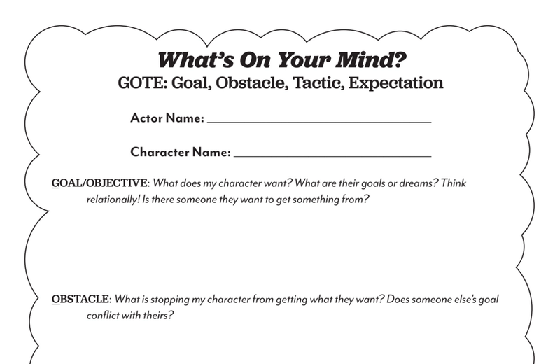what's on your mind goal objective for young actors