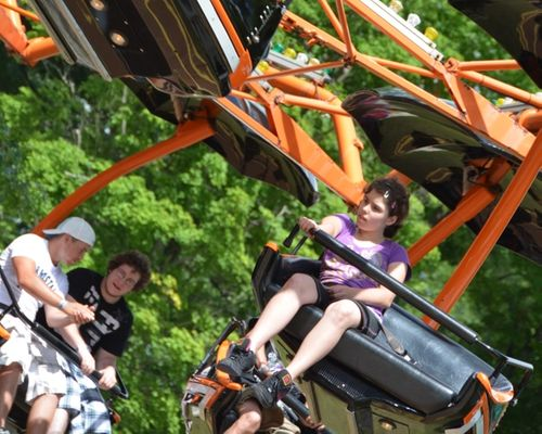 the Paratrooper family ride at DelGrosso's Amusement Park