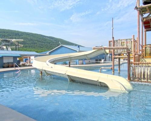 Super Slide water slide at the Laguna Splash Water Park
