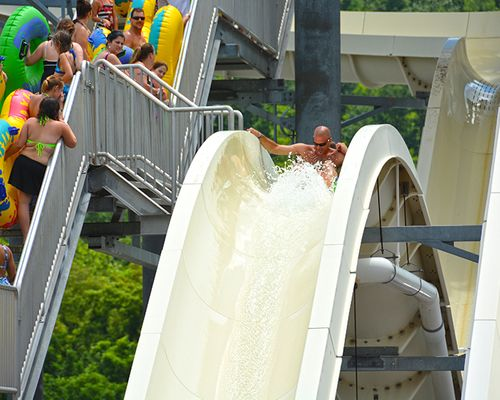 Gravity Groove water slide at the Laguna Splash Water Park