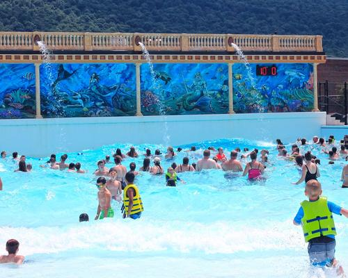 Image of people in wave pool