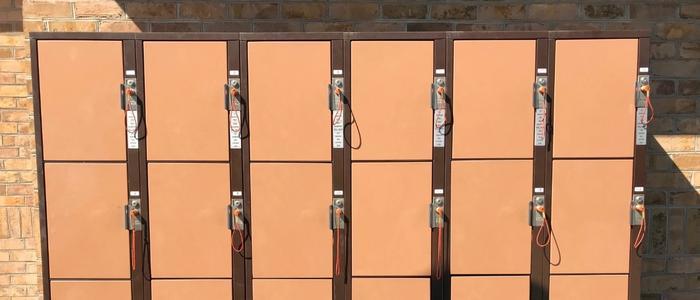 Ride Side Rental Lockers at DelGrosso's Amusement Park
