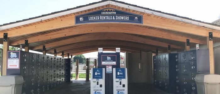 Water Side rental lockers at the Laguna Splash Water Park