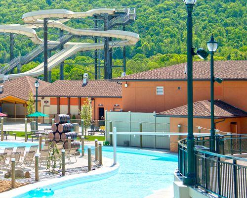 the River Lazio water ride at the Laguna Splash Water Park