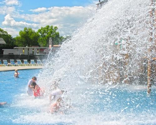 Roman Splash Bucket at the Laguna Splash Water Park