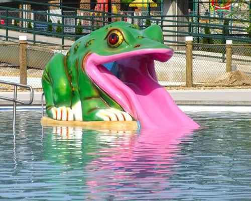 Frog Slide at the Laguna Splash Water Park