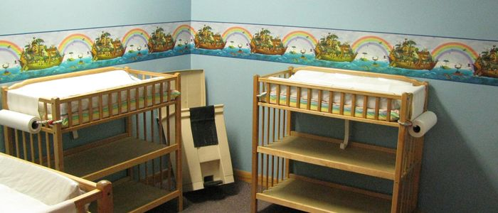Diaper Changing Tables at DelGrosso's Park Infant Care Center