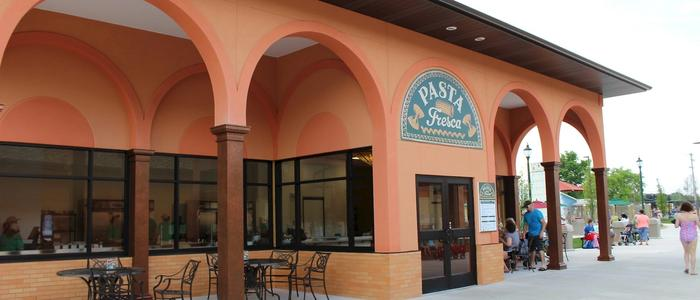 The Pasta Fresca concession building at DelGrosso's Park