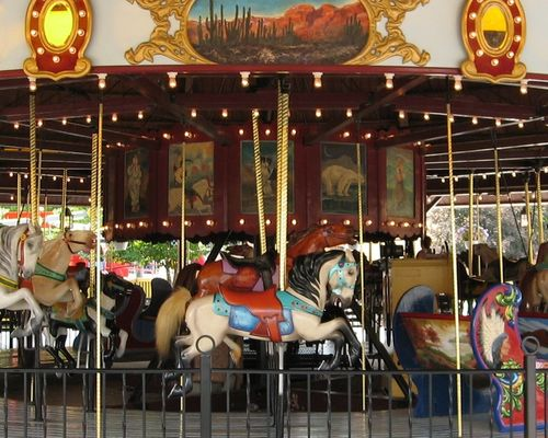 The Carousel Family Ride at DelGrosso's Amusement Park