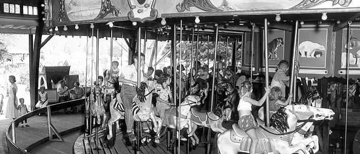 The Carousel at Bland's Park 1950