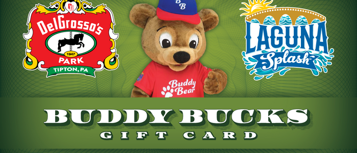 image of the Buddy Bucks Gift Card from DelGrosso's Amusement Park
