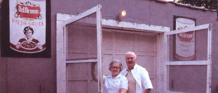 Fred and Murf DelGrosso at the Original DelGrosso Pasta Sauce Factory