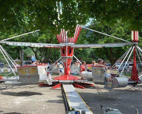 Scrambler family ride at the DelGrosso Amusement Park