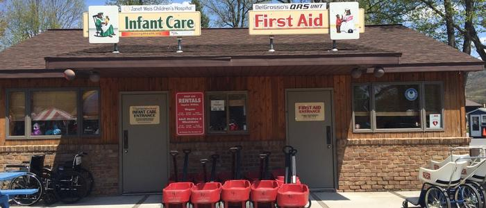 Infant Care Center and First Aid Booth at DelGrosso's Park