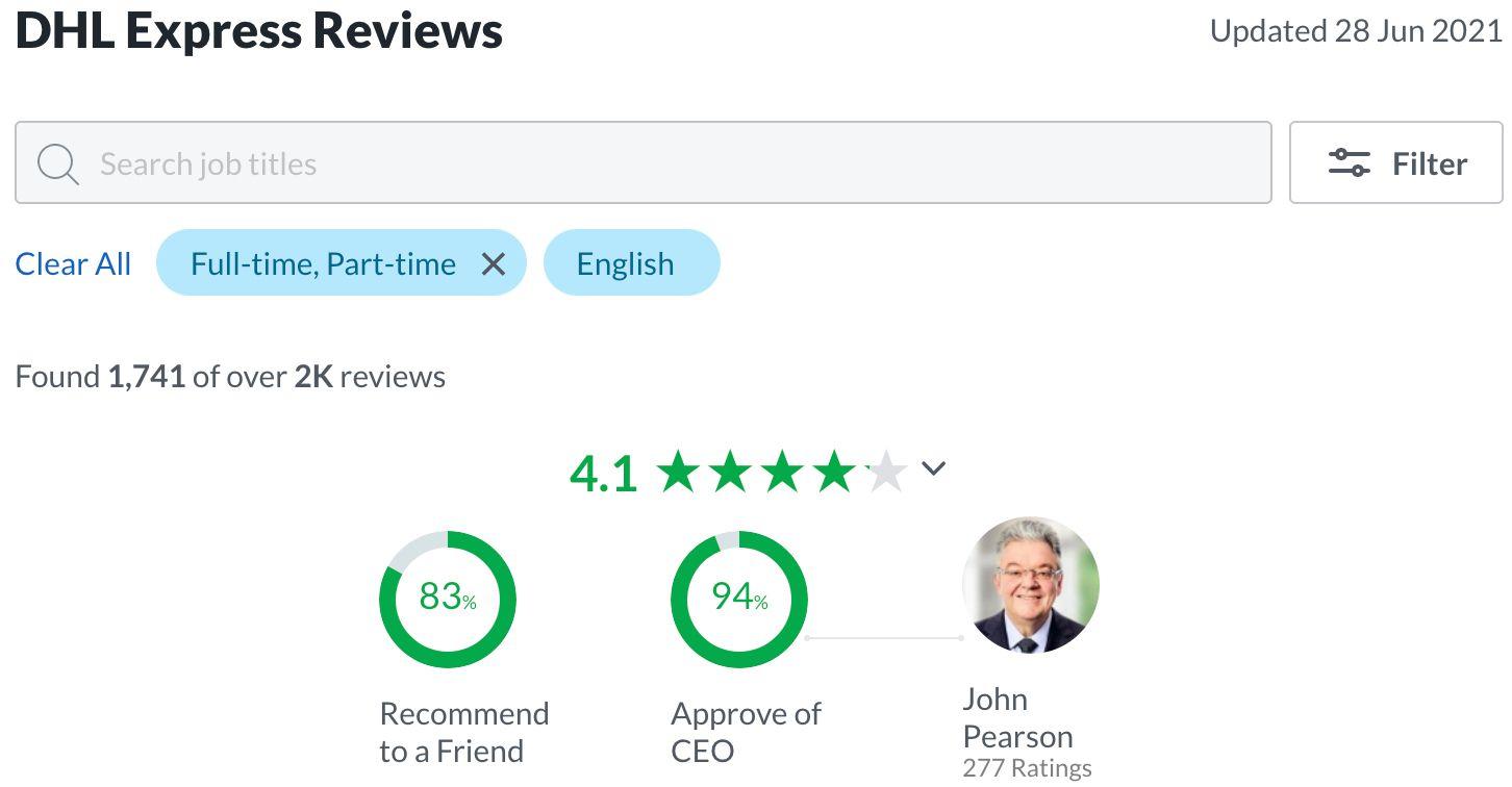 DHL Express Reviews