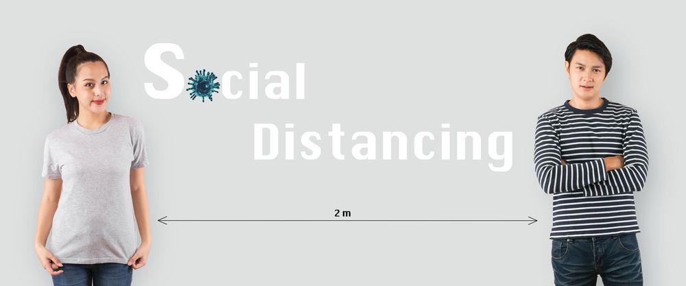 Safe Distancing between 2 person.