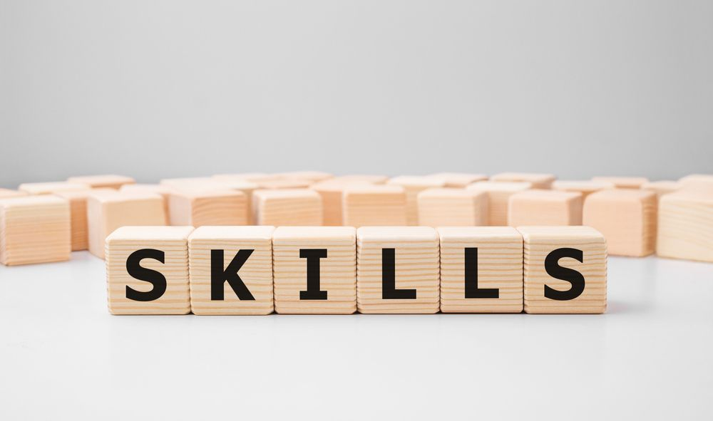 the skills section of the resume.