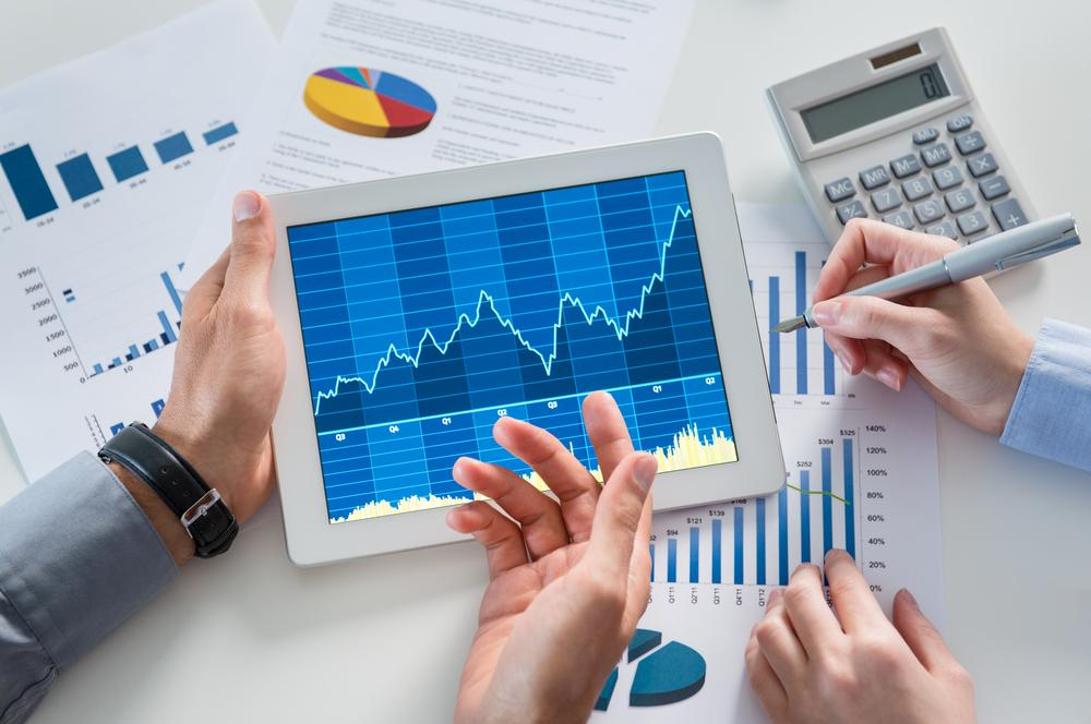 A financial advisor doing cash flow analysis.