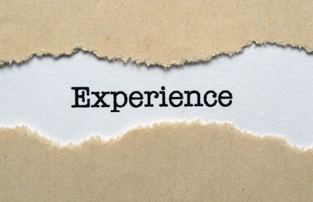 the experience section of the resume.