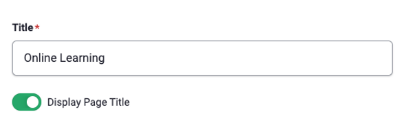 Page title toggle