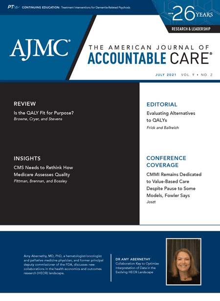 July 2021 cover of The American Journal of Accountable Care
