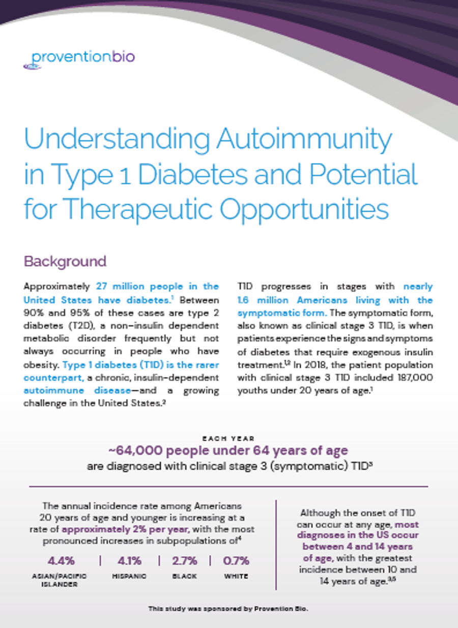 image of Understanding Autoimmunity in Type 1 Diabetes and Potential for Therapeutic Opportunities