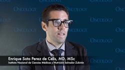Enrique Soto Perez de Celis, MD, MSc, On Treatment for Older Women with TNBC