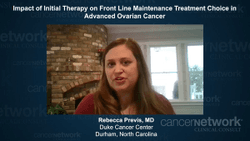 Impact of Initial Therapy on Front Line Maintenance Treatment Choice in Advanced Ovarian Cancer