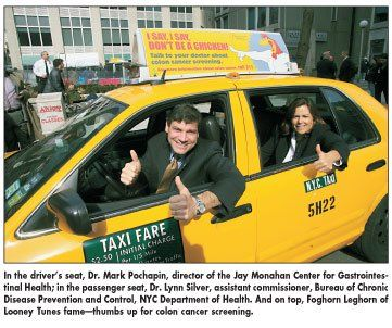 I Say I Say Don T Be A Chicken About Colon Cancer Screening Taxi Top Ads And Psa Videos