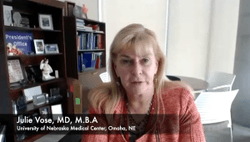 Julie Vose, MD, MBA, Discussed Toxicities Associated With Acalabrutinib or Ibrutinib for Chronic Lymphocytic Leukemia