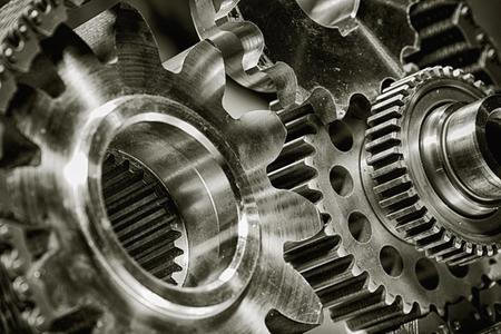 Gears grinding against one another