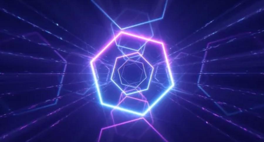 Purple neon background