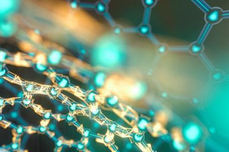 Crystallized molecular diagram